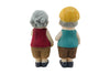 Cute Old Couple Together: Decorative Gift for Lovers