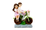 The Lovely Couple on a Bicycle: Decorative Gift Ornament