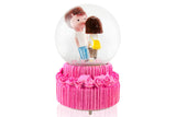 🎼 Cute Lovers Together Musical Crystal Snow Dome: Gift for Young Couple