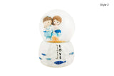 Cute Couple Musical Snowball Gift for Lovers