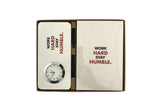 "Office Diary & Clock ""Work Hard Stay Humble"""