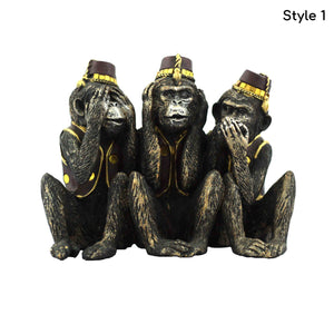 Epic 3 Monkey tale statue | Cute & Meaningful gift