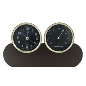 Sassie™ Home Decorative Analog Clock + Temperature Meter for Office/Studdy Table
