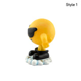 Funny Emoticon Statues | Car Desk Décor