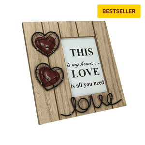 Wooden Photo Frame for Lovers | Premium Wooden Lovely Photoframe