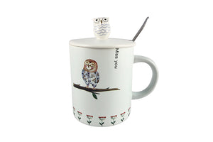Miss You - Lovely Owl Coffee Mug for Couple