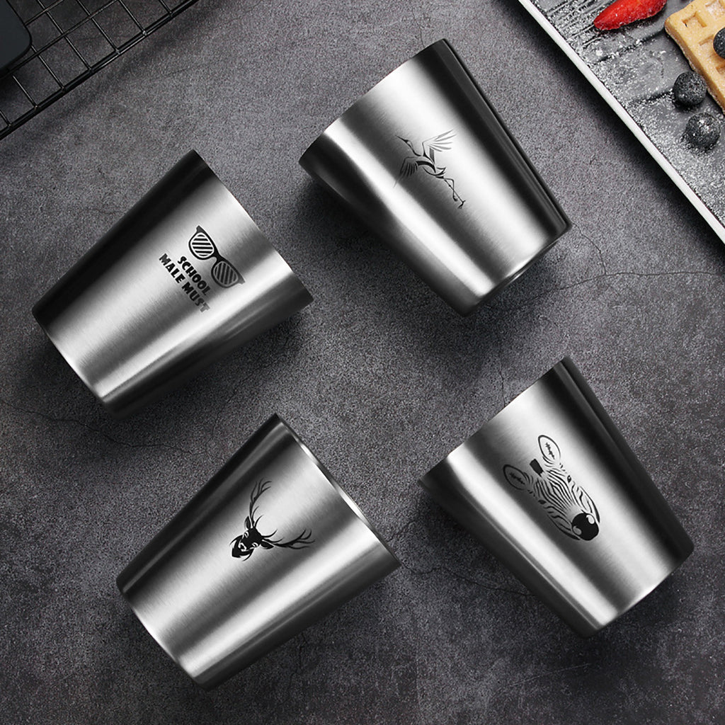 Double Walled Stainless Steel Beer Mug