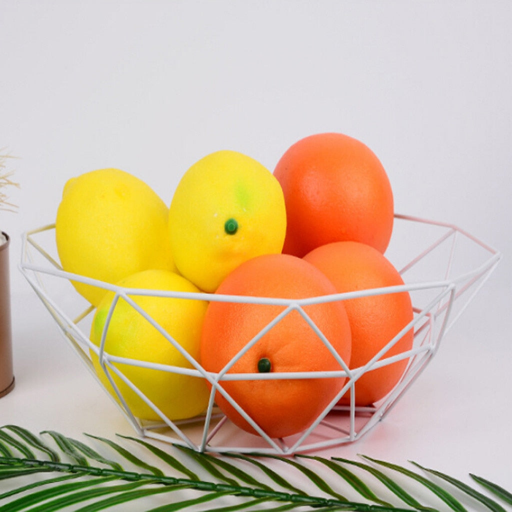 Geometric Fruit Wire Basket