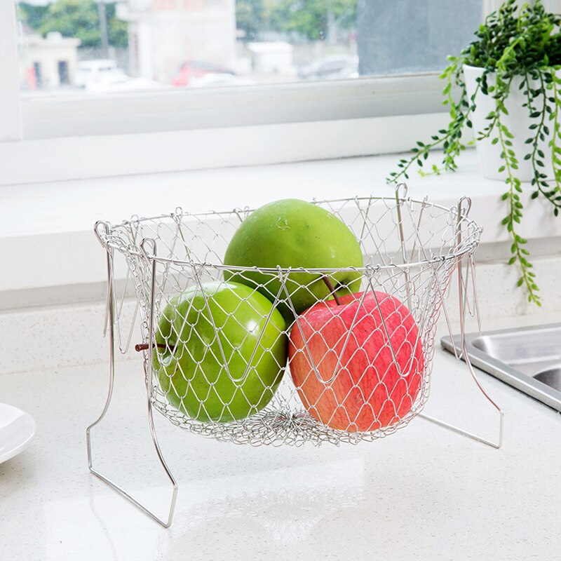 Multi Functional Stainless Steel Drain Basket