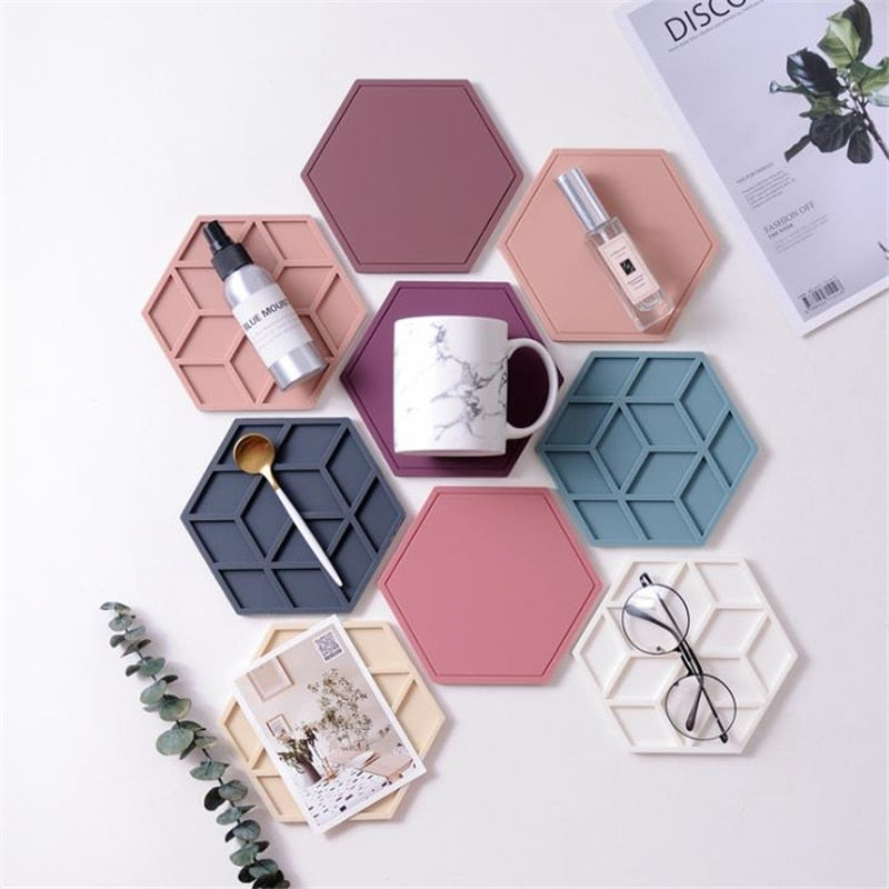 Heat Insulated Colorful Silicone Coasters