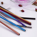 Eco Friendly and Reusable Colorful Clear Glass Straw