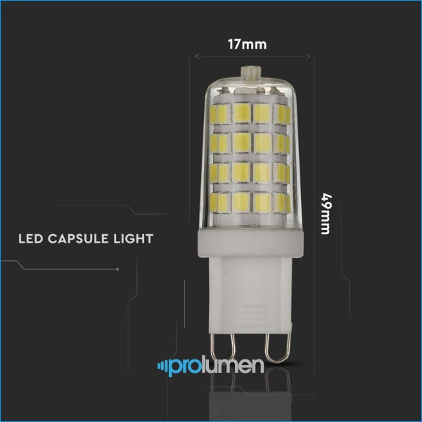V-Tac 3W (25W Halogen Replacement) Energy Saving G9 Led Bi Pin Capsule Spotlight With Samsung For