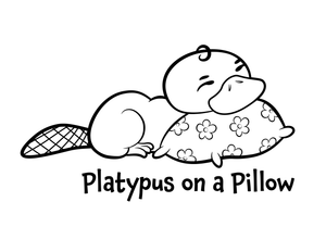 Platypus on a Pillow Coloring Page