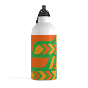 Stainless Steel Water Bottle (Green & Orange) twst