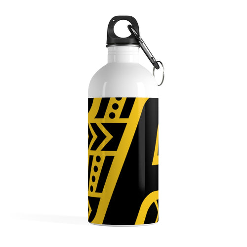 Stainless Steel Water Bottle (Black & Yellow)