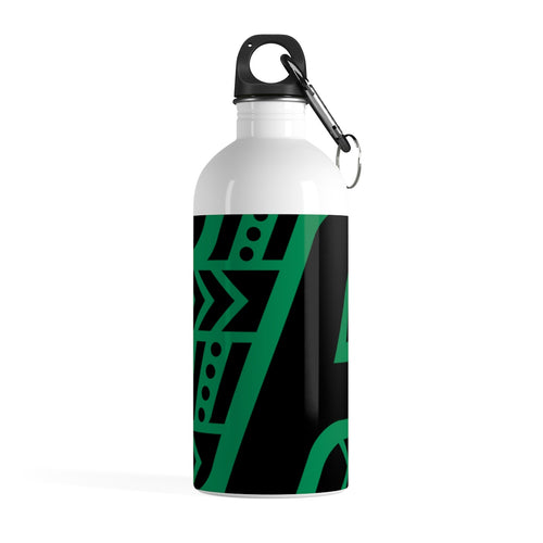 Stainless Steel Water Bottle (Black & Green)