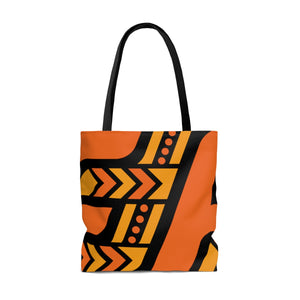 Tote Bag (Orange & Black)
