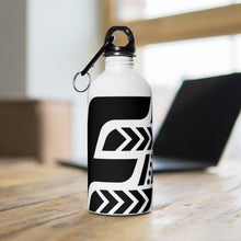 Load image into Gallery viewer, Fit Tribe Water Bottle (White/Black)