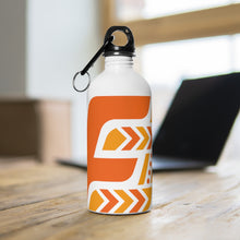 Load image into Gallery viewer, Fit Tribe Water Bottle (White/Orange)