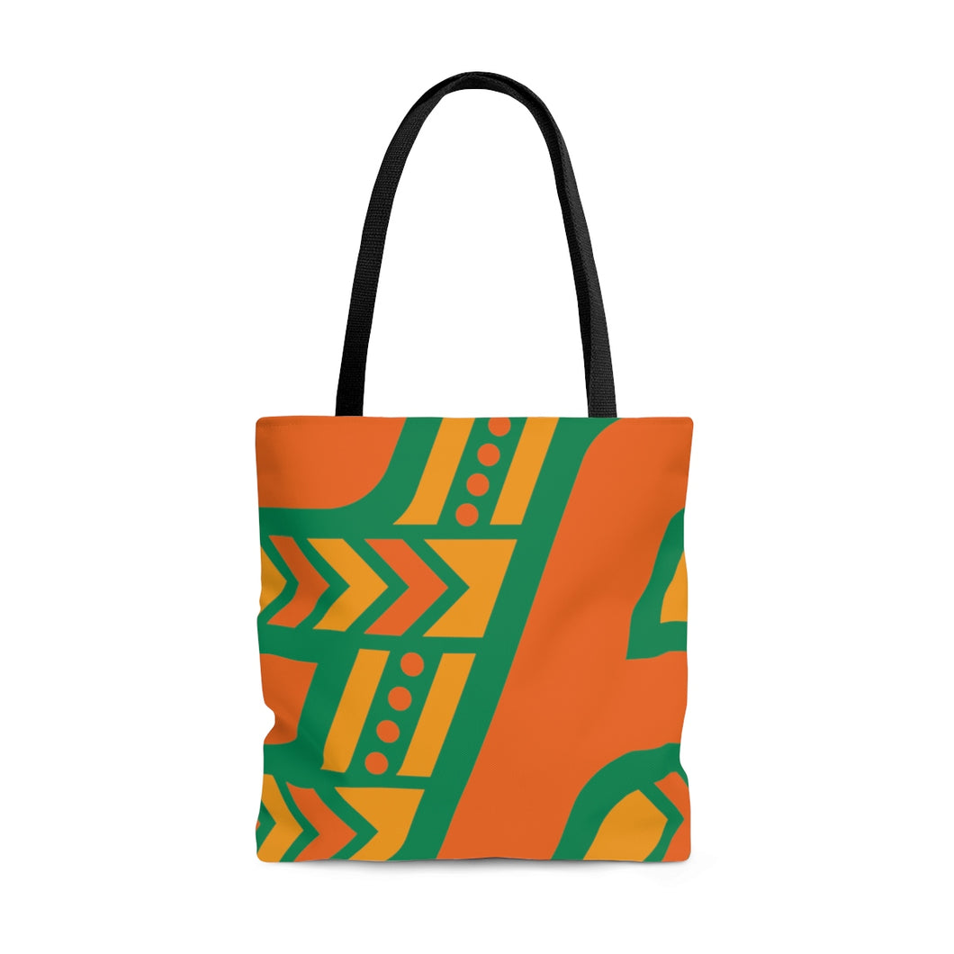 Tote Bag (Orange & Green)