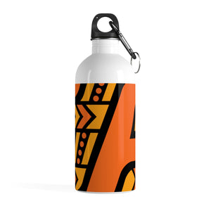 Stainless Steel Water Bottle (Black & Orange)