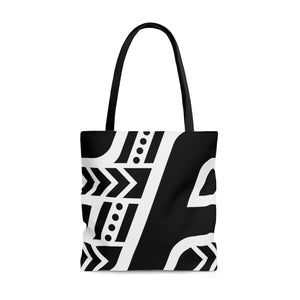 Fit Tribe Tote Bag (Black/White)