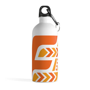 Fit Tribe Water Bottle (White/Orange)