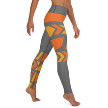 Load image into Gallery viewer, Raised Waist Leggings (ST-Grey/Orange)