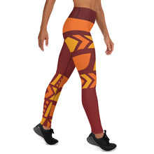 Load image into Gallery viewer, Raised Waist Leggings (ST-Maroon)