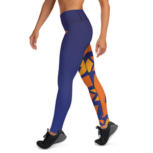 Raised Waist Leggings (SL-Blue)