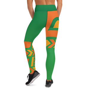 Raised Waist Leggings (ST-Green)