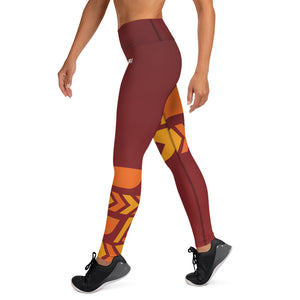 Raised Waist Leggings (ST-Maroon)