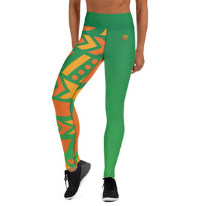 Raised Waist Leggings (SL-Green)