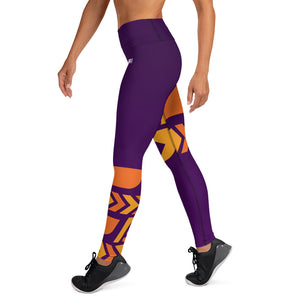Raised Waist Leggings (ST-Purple)