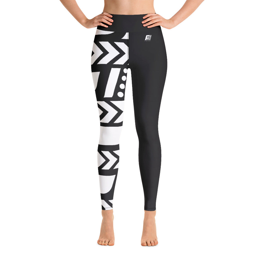 Raised Waist Leggings (SL-Black & White)