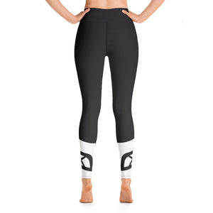 Raised Waist Leggings (LL-Black/White)