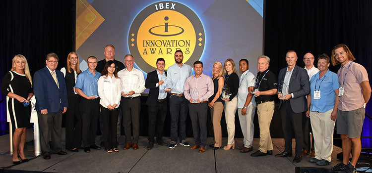 phil gutowski (far right) IBEX innovation award judge