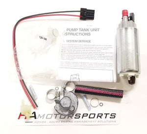 Walbro 255 LPH HP Fuel Pump Kit 88-91 Civic / CRX - HA Motorsports