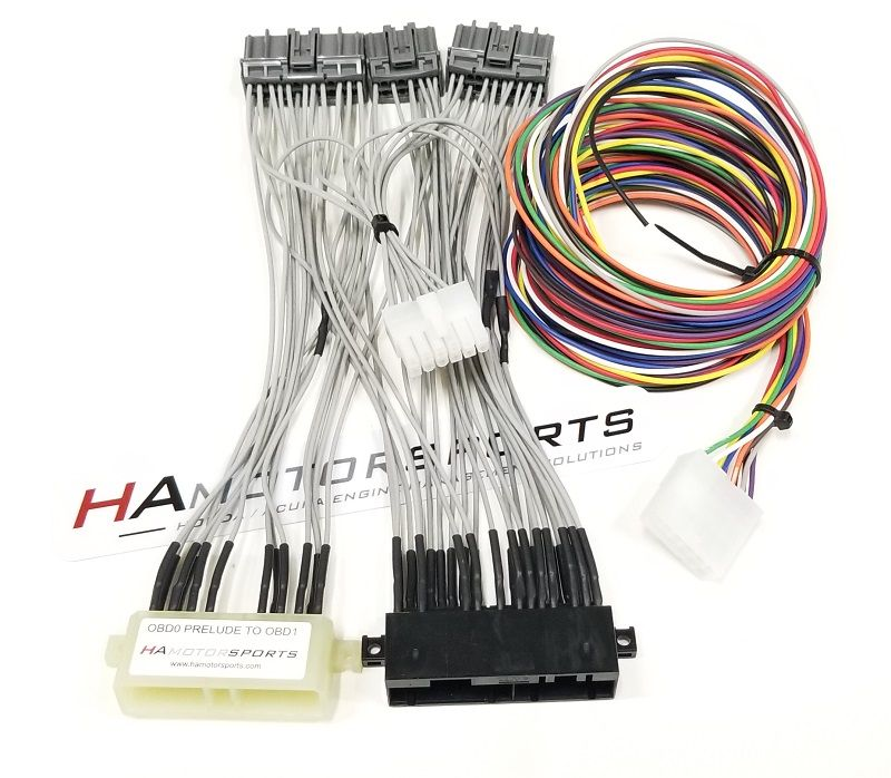 OBD0 88-91 Prelude to OBD1 ECU Jumper Harness - Manual Transmission - HA Motorsports