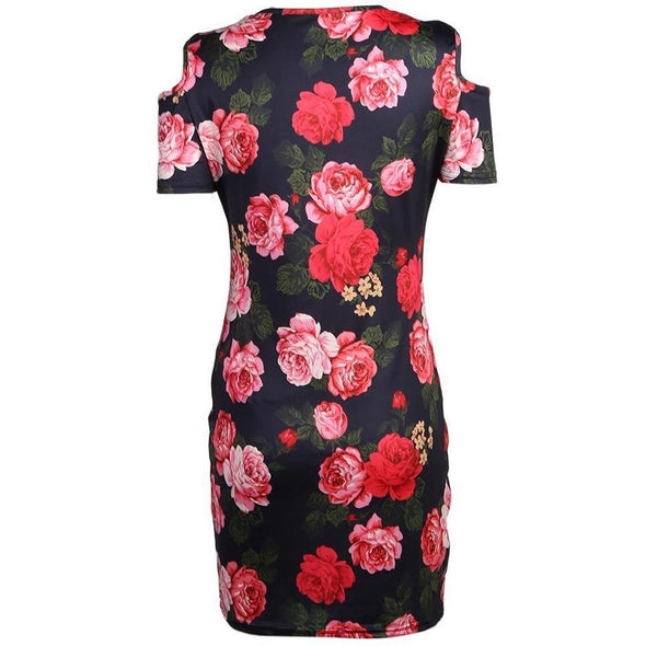 Red Rose Floral Skull Dress