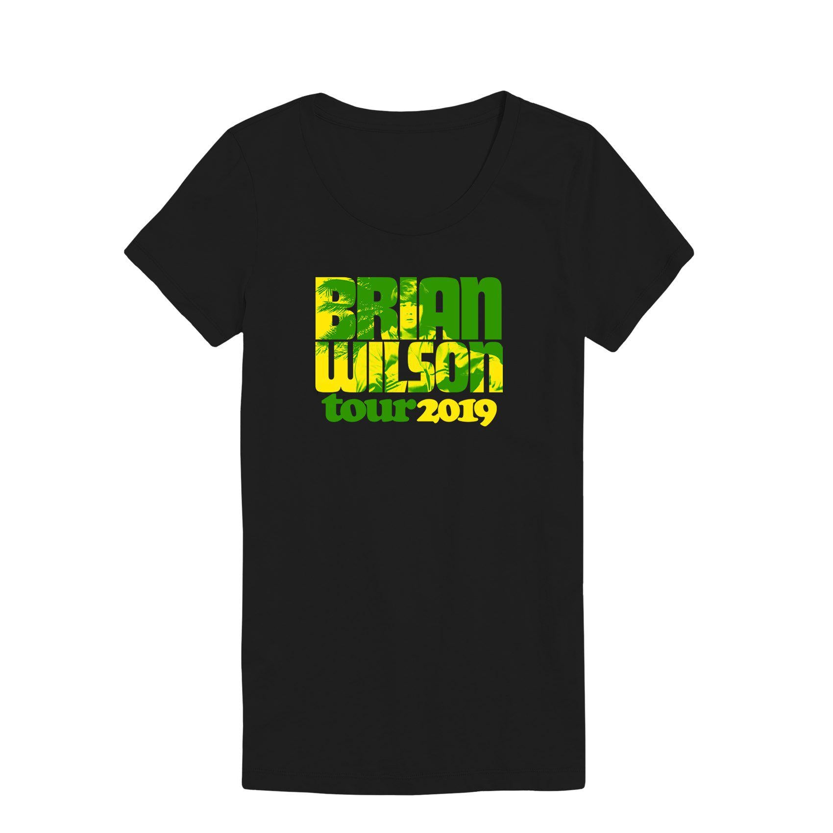 Brian Wilson Palm Trees 2019 Tour Ladies Tee-Brian Wilson