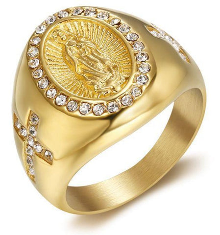 BAGUE-RELIGIEUSE-OR-VIERGE-MARIE