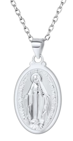 COLLIER MEDAILLE MIRACULEUSE ARGENT