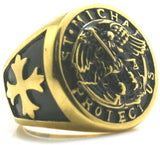 bague-religieuse-or-saint-michel-archange-chevalier-noir