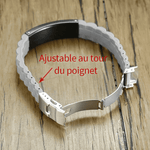 BRACELET RELIGIEUX <br>SILICONE BLANC PROVERBE