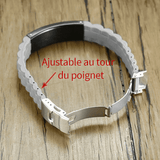 BRACELET RELIGIEUX SILICONE BLANC PAROLES