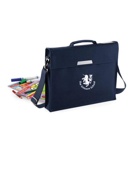Unicorn Branded School Book Bag (QD457Navy)