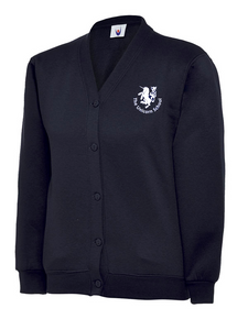 Unicorn Branded School Cardigan (School Years 2-6) Embroidered Unicorn logo (MD048Navy)