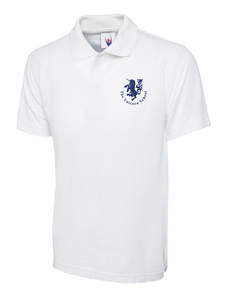 Unicorn Branded School BOYS & GIRLS White Polo Shirt (School Years 2-6) Printed Unicorn Logo (UC103White)