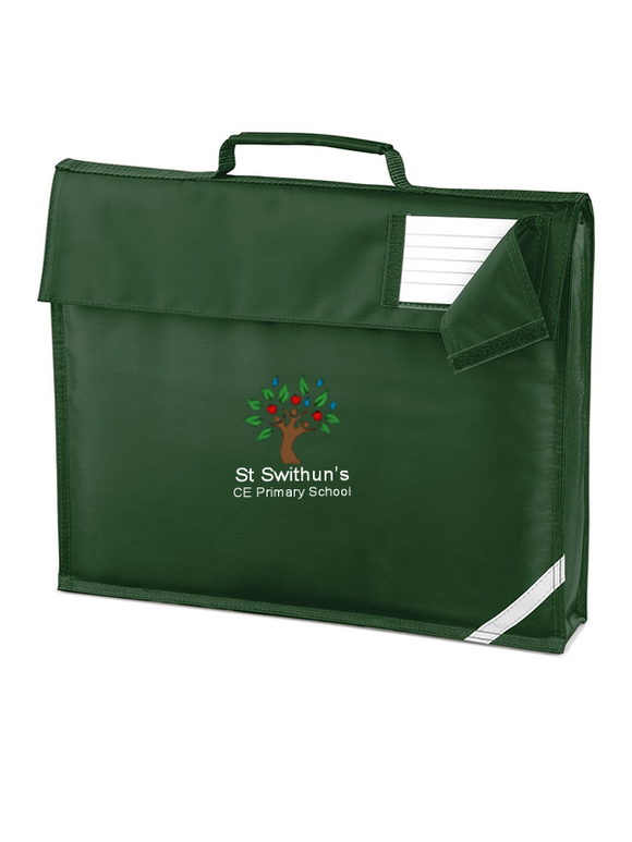 St Swithun's CE Primary School Book Bag  Bottle Green